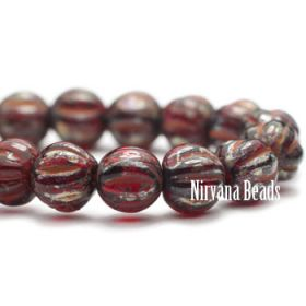 4mm Melon Ruby Red with Picasso Finish