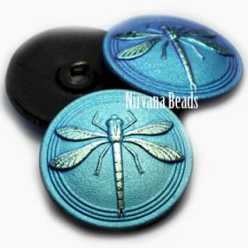 31mm Dragonfly Button Black with An AB Finish