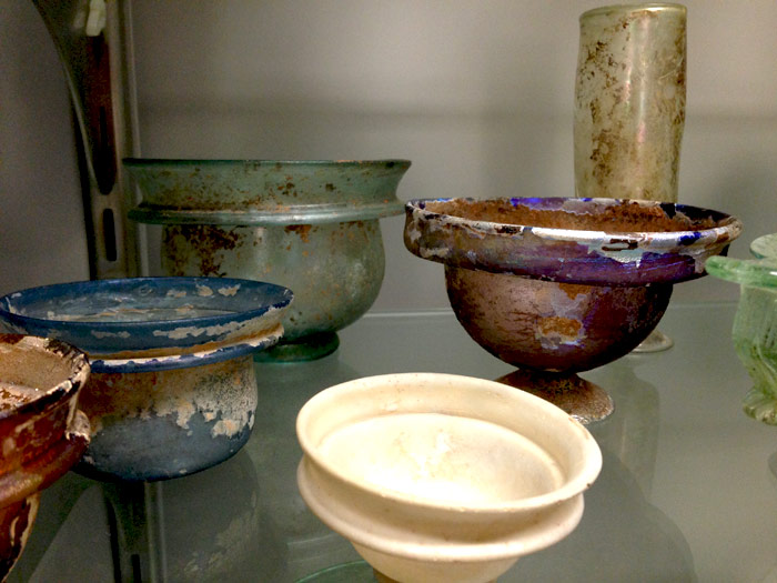 Ancient Glass drinking cups