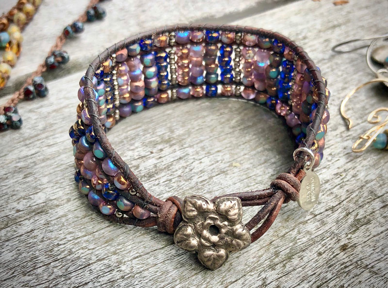 bracelet with trica beads