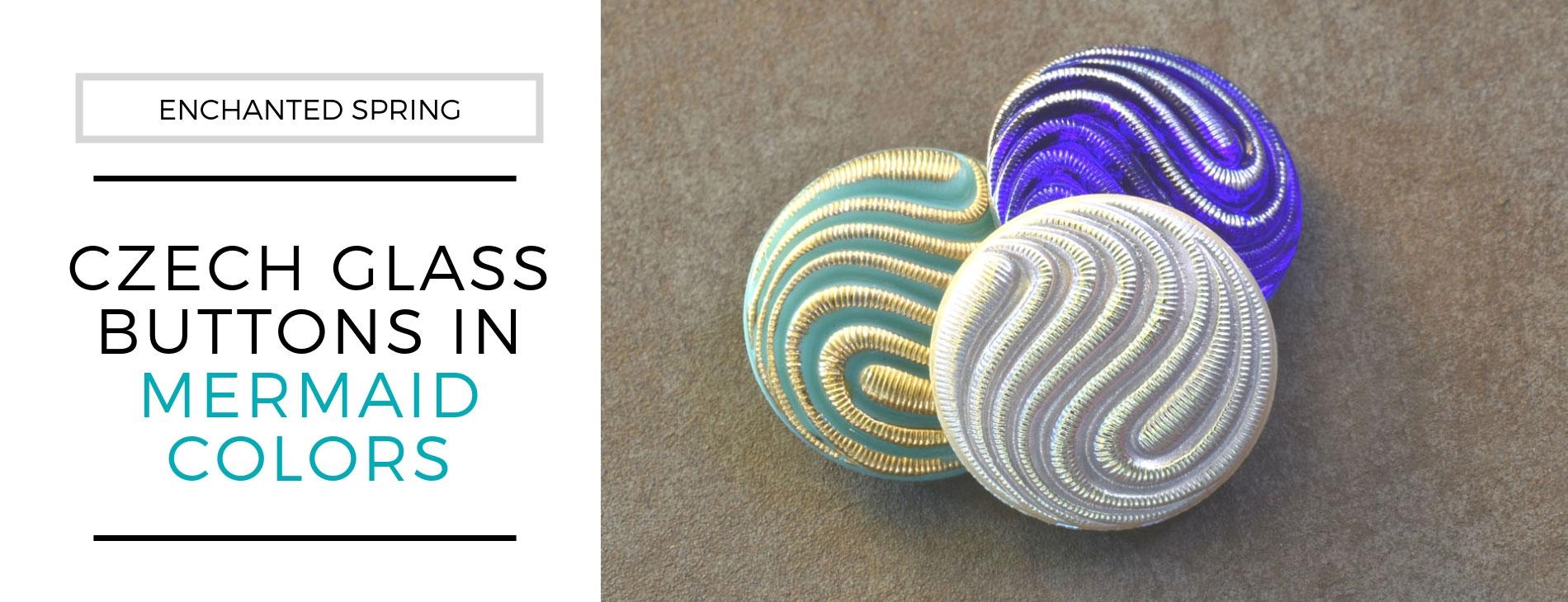 new czech glass Buttons