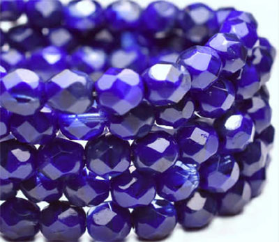 Cobalt Fire-Polished Beads