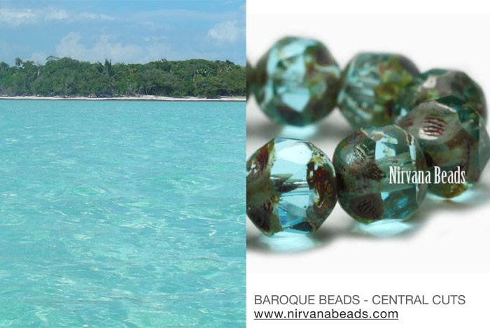 Baroque beads and Riviera Maya