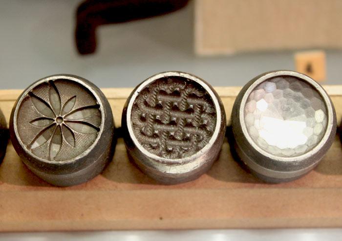 Czech glass button molds