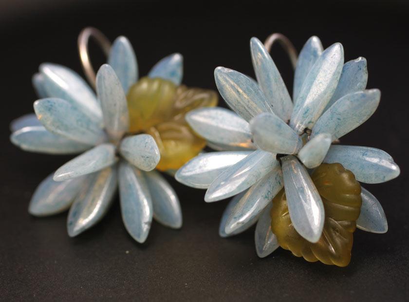 Earrings made of czech daggers