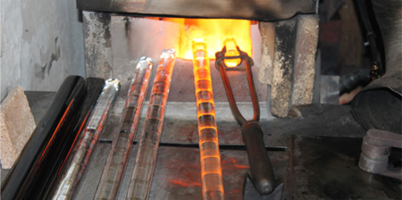 melting glass rods