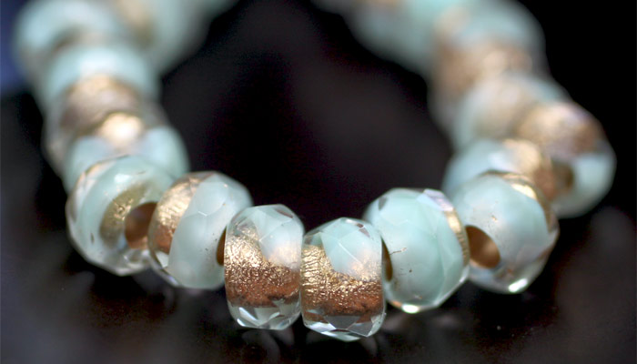 Large hole bead, roller beads