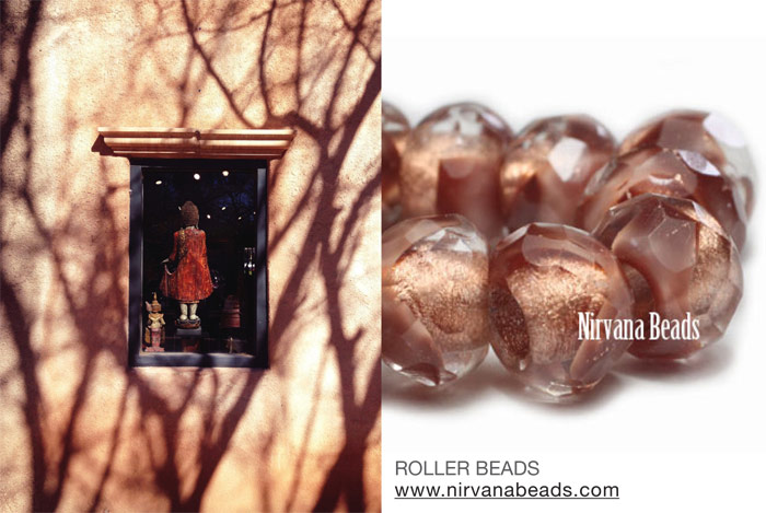 Tlaquepaque and copper roller bead